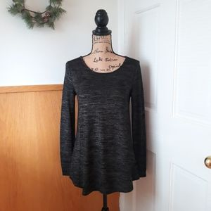 Gap Black and White Speckled Long Sleeve Tunic